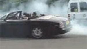 Drifting rented Rolls-Royce