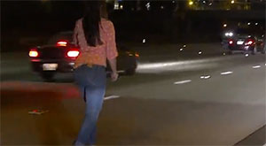 Drunk Girl Stops Car to Piss ON Highway?