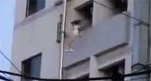 Girl Jumps Off Building
