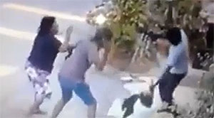 Guys Attack Girl With Machetes