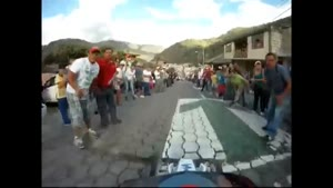 Woman Run Over By Street Luge